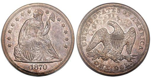 1870-S Silver Dollar