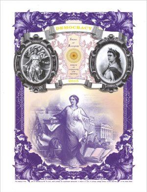 2015 Ideals in Allegory DEMOCRACY Intaglio Print