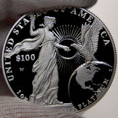 2015 Proof American Platinum Eagle, reverse-a