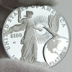 2015 Proof American Platinum Eagle, reverse-h