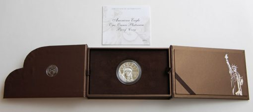 2015-W $100 Proof American Platinum Eagle - Presentation Case