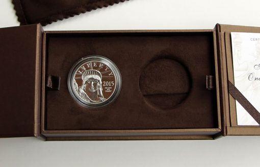 2015-W $100 Proof American Platinum Eagle - Presentation Case, Flipped