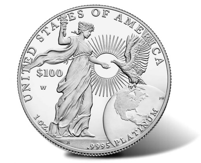2015-W Proof American Platinum Eagle - Reverse