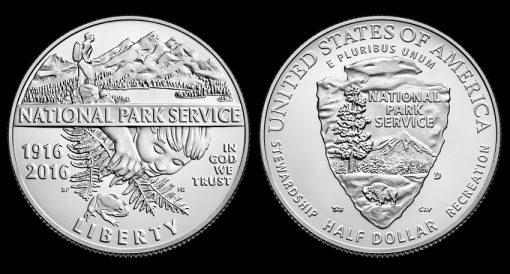 2016-D Uncirculated National Park Service Clad Half-Dollar