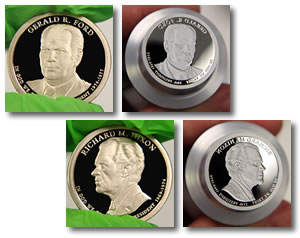 2016 Ford and Nixon proof coins and dies