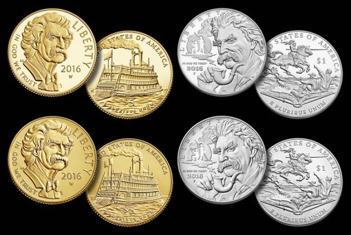 2016 Mark Twain Commemorative Coins