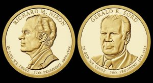 2016  Ford and Nixon Presidential $1 Coin Designs Revealed
