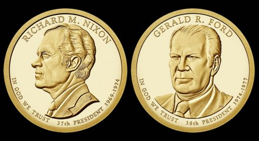 2016 Nixon and Ford Presidential $1 Coins