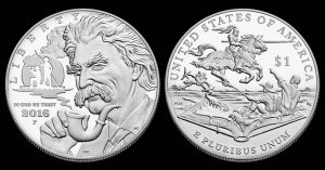 2016-P Proof Mark Twain Commemorative Silver Dollar