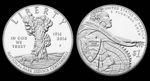 2016-P Proof National Park Service Silver Dollar
