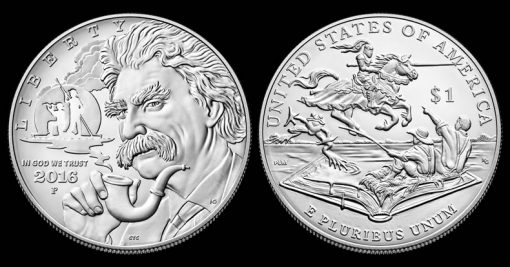 2016-P Uncirculated Mark Twain Commemorative Silver Dollar