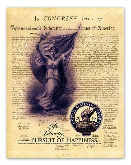 2016 Pursuit of Happiness Intaglio Print from Independence Collection