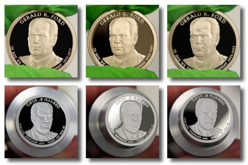 2016-S Proof Gerald R. Ford Presidential $1 Coin and die photos