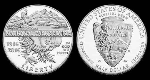 2016-S Proof National Park Service Clad Half-Dollar