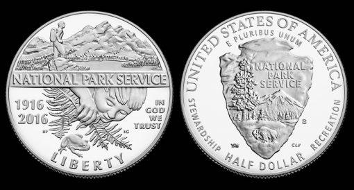 2016-S Proof National Park Service Clad Half-Dollar