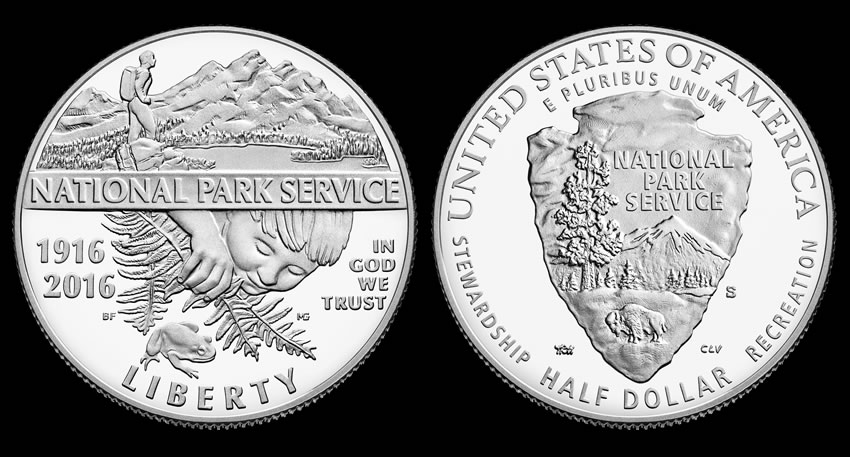 2016 P $1 100th Anniversary Of The National Park Service Silver Dollar