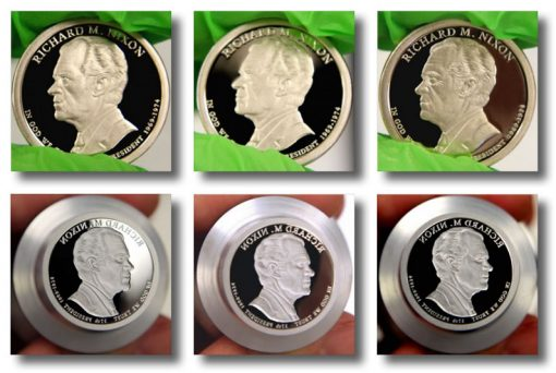 2016-S Proof Richard M. Nixon Presidential $1 Coin and die photos