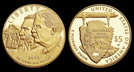 2016-W $5 Proof National Park Service Commemorative Gold Coin
