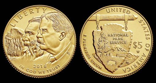 2016-W $5 Uncirculated National Park Service Commemorative Gold Coin