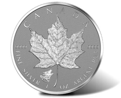 2016 Wolf Privy Silver Maple Leaf Bullion Coin, Reverse