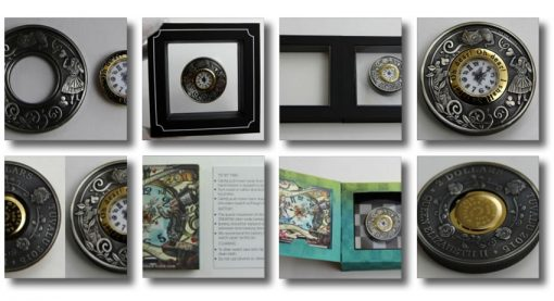Photos of 2015 Alice in Wonderland Clock Coin