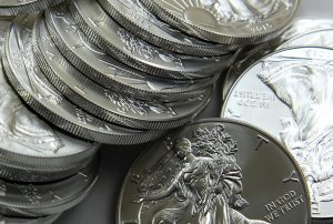 Stack of 2015 American Silver Eagles