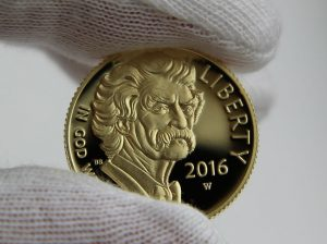 2015 Proof Mark Twain Gold Coin