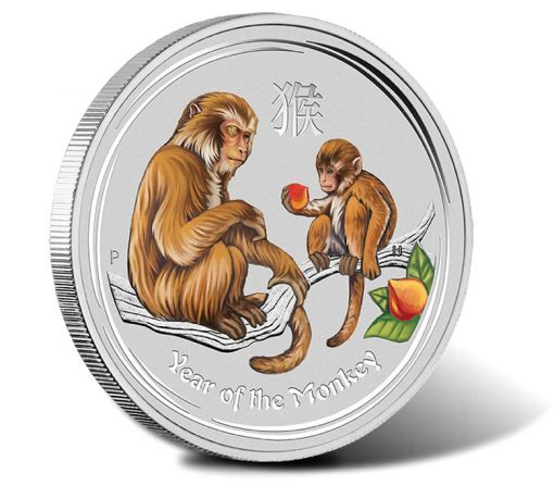 2016 $30 Year of the Monkey Gemstone 1 Kilo Silver Coin