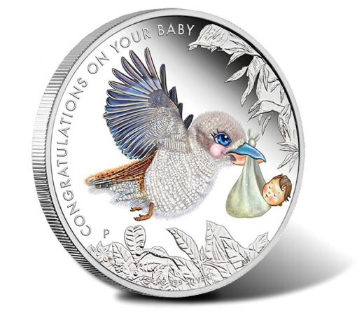 2016 50c Newborn Baby 1/2 oz Silver Proof Coin