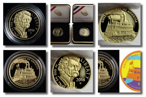 2016 Mark Twain Commemorative Gold Coin Photos