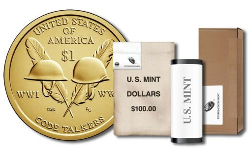 2016 Native American $1 Coin - Roll, Bag and Box