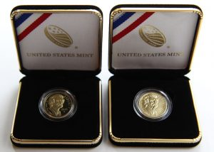 2016-W $5 Mark Twain Commemorative Gold Coins and Cases