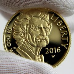2016-W $5 Proof Mark Twain Commemorative Gold Coin, Obverse-a