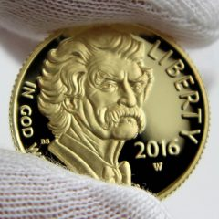 2016-W $5 Proof Mark Twain Commemorative Gold Coin, Obverse-b
