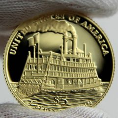 2016-W $5 Proof Mark Twain Commemorative Gold Coin, Reverse
