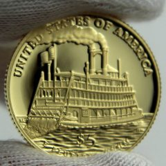 2016-W $5 Proof Mark Twain Commemorative Gold Coin, Reverse-a