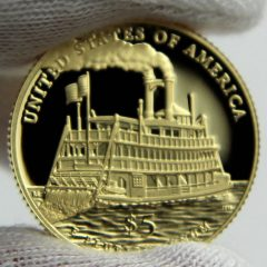 2016-W $5 Proof Mark Twain Commemorative Gold Coin, Reverse-b