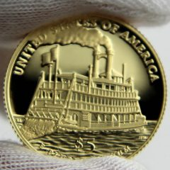 2016-W $5 Proof Mark Twain Commemorative Gold Coin, Reverse-d