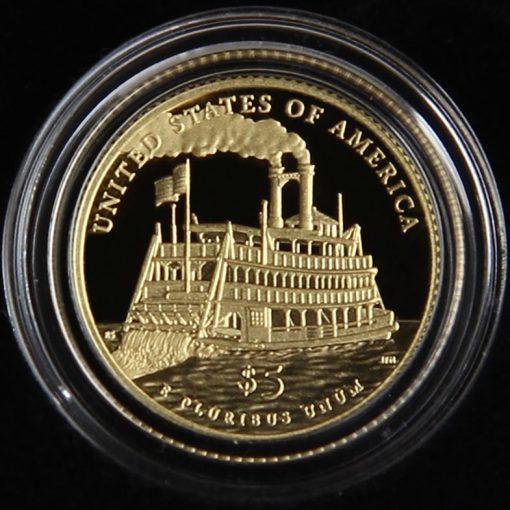 2016-W $5 Proof Mark Twain Commemorative Gold Coin in Capsule