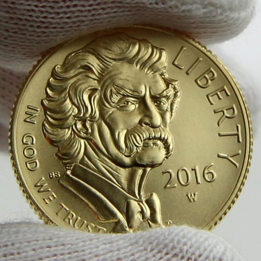2016-W $5 Uncirculated Mark Twain Commemorative Gold Coin, Obverse