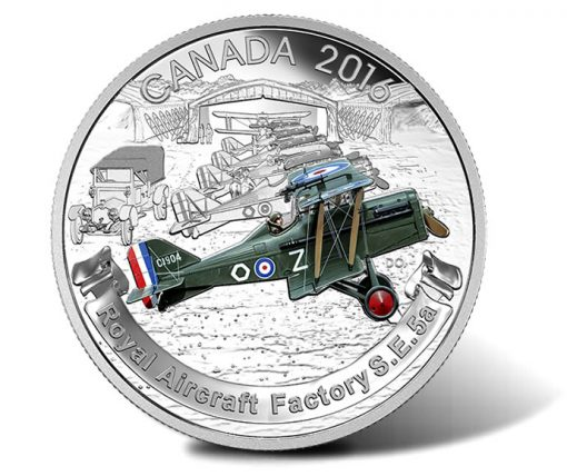 Canadian 2016 $20 Royal Aircraft Factory S.E.5a Silver Proof Coin