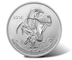 2016 $20 Tyrannosaurus Rex Silver Coin for $20