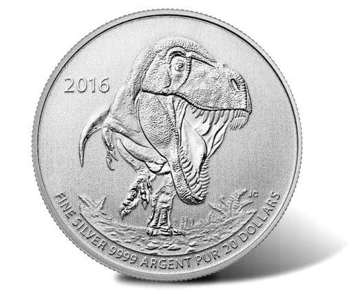 Canadian 2016 $20 Tyrannosaurus Rex Silver Coin