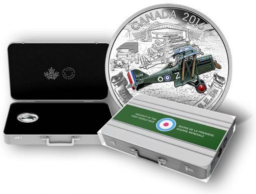 Canadian 2016 Aircraft of First World War Coin and Case