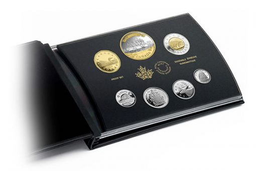 Coins and Presentation Case of Canadian 2016 Silver Proof Set