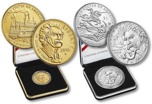 Mark Twain Commemorative Coins and Cases