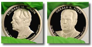Nixon, Ford Presidential $1 Coins