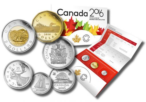 Royal Canadian Mint 2016 Uncirculated Set