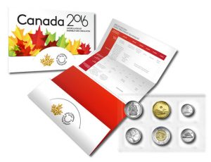 Royal Canadian Mint 2016 Uncirculated Set and packaging