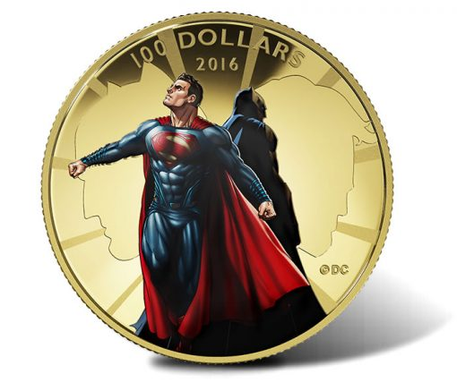 2016 $100 Batman v Superman Gold Coin
